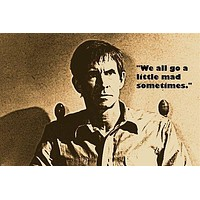 NORMAN BATES AKA ANTHONY PERKINS quote from PSYCHO movie MAD man 24X36 1960