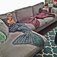 Mermaid Tail Crochet Afghan