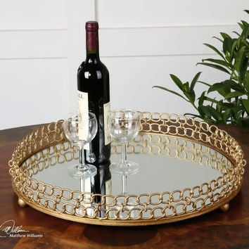 Uttermost Dipali Mirrored Tray