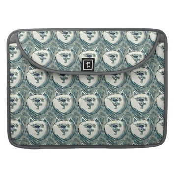 smiling dog face MacBook pro sleeves
