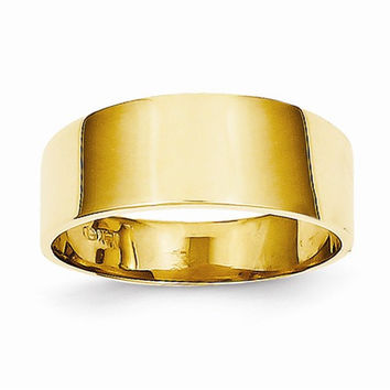 14kt Yellow Gold Ladies Cigar Band Ring