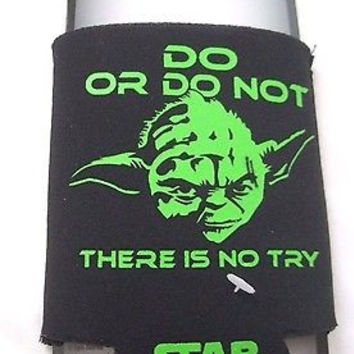 STAR WARS YODA DO OR DO NOT THERE IS NO TRY CAN COOLER COOZIE HUGGIE-BRAND NEW!