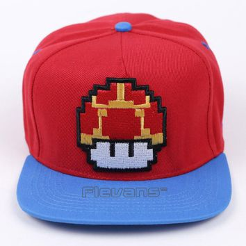 Super Mario party nes switch  Bros Mushroom Summer Baseball Cap Embroidery Cotton Cap Hats For Men Women Hip Hop Caps AT_80_8
