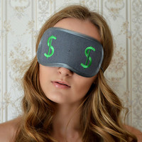 Dollar Sleep Mask Felt Money Sleep Eye Mask Boss Sleeping Unisex Eyemask Embroidery American Bucks Millionaire Modern Gift Accessories m16