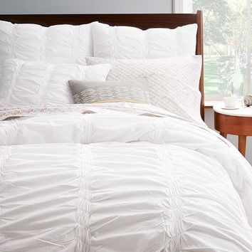 Organic Smock Pleated Duvet Cover + Shams
