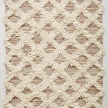 Lattice Flokati Rug by Anthropologie