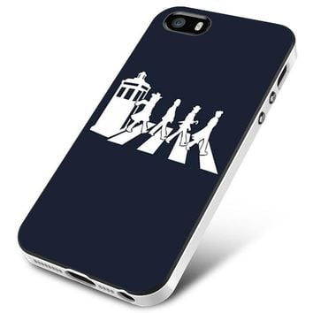 doctor who tardis the beatles abbey road iPhone 5   5S   5SE Case Planetscase.com
