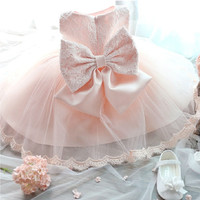 Baby Girls Kids Princess Wedding Formal Party Tutu Bow Flower Lace Full Dress [7672091718]