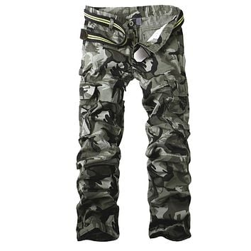 Cargo Pants Men's Camouflage Pants With belt