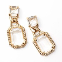 Crystal and Pave Drop Earrings