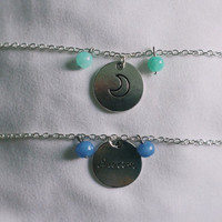 Dream Moon Sea Glass Adjustable Choker Necklace
