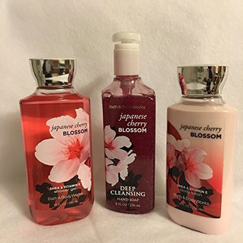Japanese Cherry Blossom Lotion, Shower Gel and Deep Cleansing Hand Soap