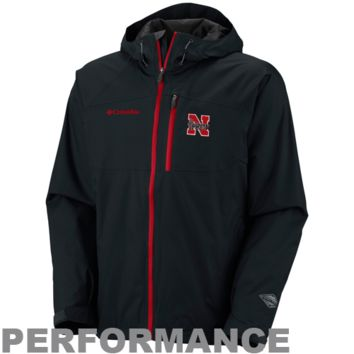 Columbia Nebraska Cornhuskers Hail Tech Performance Full Zip Jacket - Black