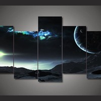 Universe Planet Space canvas room wall art on canvas