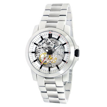 Kenneth Cole KC9112 Men's Automatic Silver Skeleton Dial Stainless Steel Bracelet Watch
