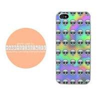 Tie Dye Alien Emoji iPhone 4/4s 5/5s/5c & iPod 4/5 Case