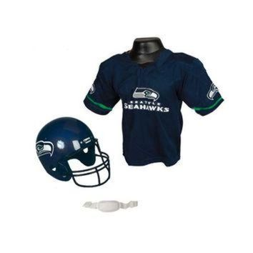 DCCK8X2 Seattle Seahawks Youth NFL Helmet and Jersey Set