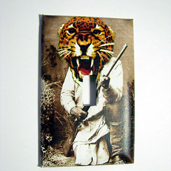 Light Switch Cover - Light Switch Plate Leopard Warrior CAt