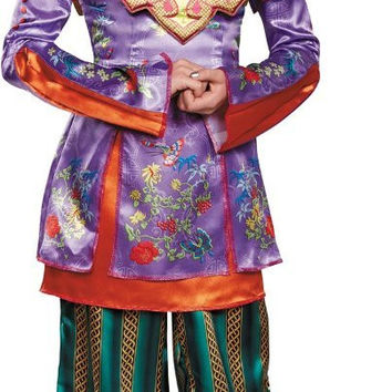 Alice in Wonderland: Through the Looking Glass Deluxe Asian Alice Child Costume M