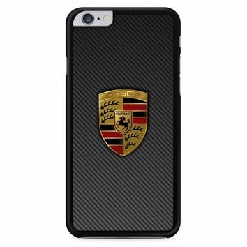 Porsche Logo Carbon iPhone 6 Plus / 6S Plus Case
