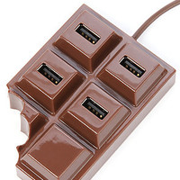 Kikkerland Home Goods Chocolate USB Hub