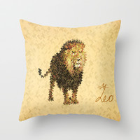 LEO Throw Pillow by SensualPatterns