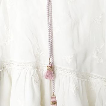 Lina Tassel necklace in Pink
