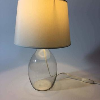 Glass Table Lamp - Clear with shade