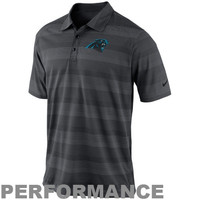 Nike Carolina Panthers Dri-FIT Preseason Sideline Performance Polo - Charcoal