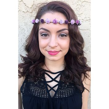 Purple Flower Crown #D1040