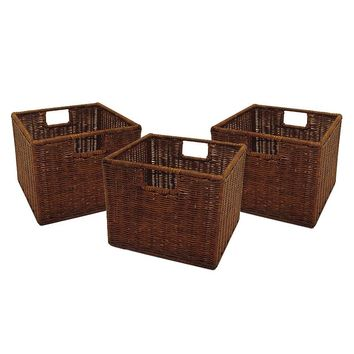 Winsome 3-pk. Leo Basket Set (Brown)