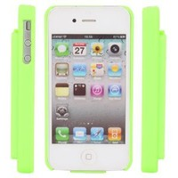 Green Hard Neon Green Credit Card Holder Case Cover Faceplate Protector for Apple Iphone 4 4s
