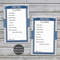 Baby Predictions Baby Shower Prediction and Advice Cards Boy Baby Shower Games Printable Prediction Cards Instant Download (57b)