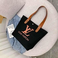 GUCCI/LV Fashion male and female student handbags pure color slant straddle bag Leisure Canvas Bag