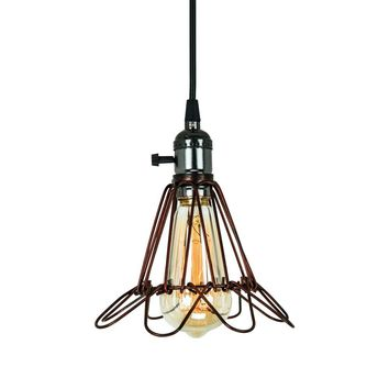 Cage Pendant Lighting Vintage Style for Kitchen Island, Restaurants, Hotels and Shops