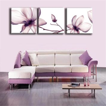 Modular Picture Art Oil Painting Home Decoration Canvas Prints Home Decor Pictures Frameless Flower for Living Room Wall 2PCS