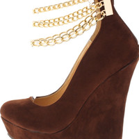 CHAIN ANKLE PLATFORM WEDGE