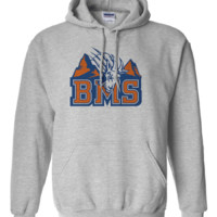 Premium BMS Blue Mountain State College Football Goat Logo Hoodie Hooded Sweatshirt
