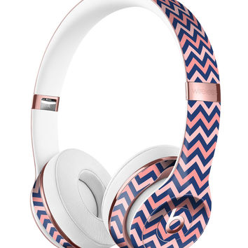 Multicolor Coral Chevron Pattern Full-Body Skin Kit for the Beats by Dre Solo 3 Wireless Headphones