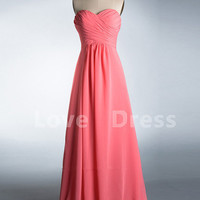 Sweetheart Floor-Length Chiffon Prom Gown/Bridesmaid Dress