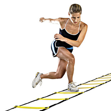 Durable 12 rung 18 Feet 6m Agility Ladder for Soccer Speed Training Outdoor Fitness Equipment Free shipping Training Ladder H1E1