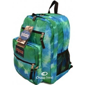 Jansport Big Student Backpack in Blinded Blue Hippy Skip TDN7