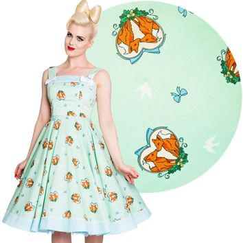 Hell Bunny Foxy 50's Rockabilly Dress