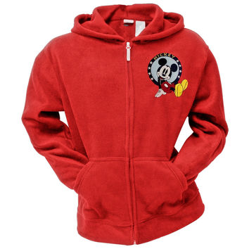 Mickey Mouse - Pep Squad Women's Red Zip Hoodie