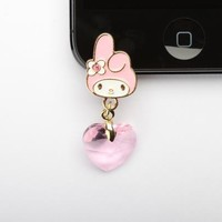 My Melody iPhone 5 Jack Accessory: Pink and Gold