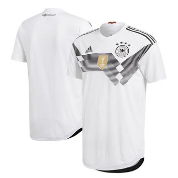 Germany National Team Soccer 2018-2019 Home Blank Jersey - White
