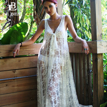 LEBESI 2017 New Sexy Cover Ups Mesh Wrap Crochet Blouse Hollow out Pareo Halter Top Leisure Beach Suit Tunic V-neck Kaftan