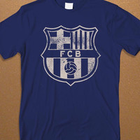 FCB Logo Men's T-shirt, FC Barcelona logo Men's T-shirt, Football T-Shirt, Awesome Shirt