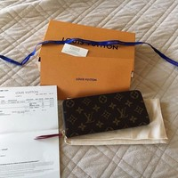 One-nice™ Authentic Louis Vuitton Clemence Fuschia Wallet M60742