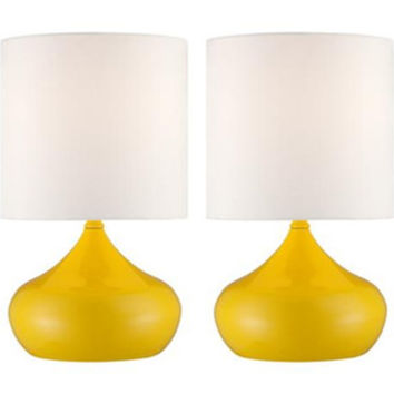 Lamps Plus Set of 2 Steel Droplet Yellow Accent Lamps from Lamps Plus | BHG.com Shop